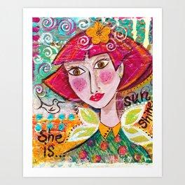 She is Sunshine Art Print