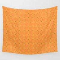 pumpkin Wall Tapestries featuring Pumpkin by TRUA
