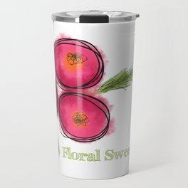 Floral Sweet Floral Travel Mug