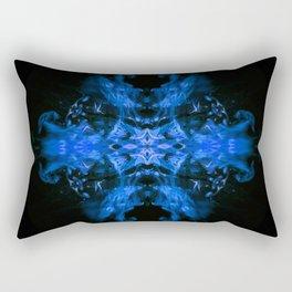 Blue Fire Dragons Rectangular Pillow
