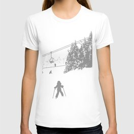 Little Skier - Grey T-shirt