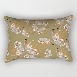 Totem Coyote Canis latrans (c) 2017 Rectangular Pillow
