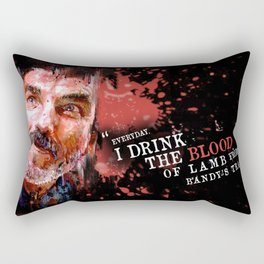 THERE WILL BE BLOOD (Daniel Plainview) Rectangular Pillow
