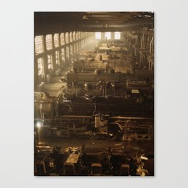 Chicago and Northwestern Railroad locomotive shop Canvas Print