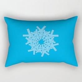 Asterisk Series: Avenir Next Condensed in the Round on Cyan Rectangular Pillow