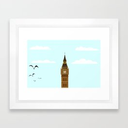 Big Ben Blue Skies Framed Art Print