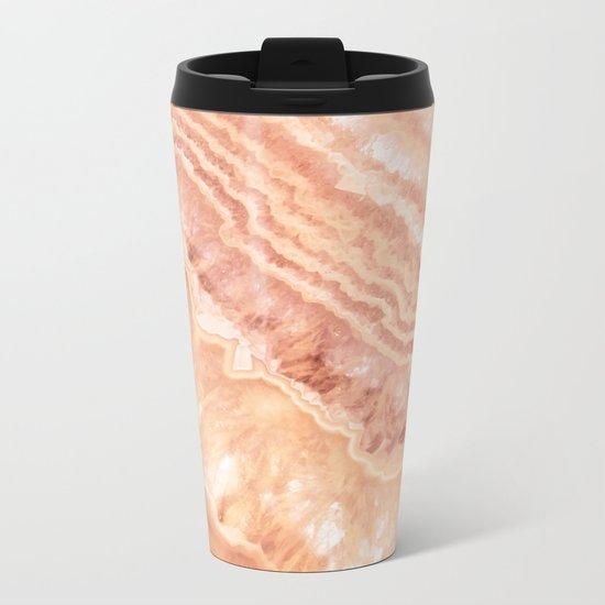 Champagne onyx marble Metal Travel Mug
