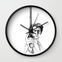 Harry Callahan - Clint Eastwood Wall Clock