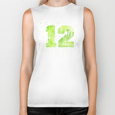 12th Man Seattle Art Biker Tank