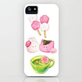 Hanami Green tea time iPhone Case