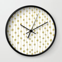 Raining Gold Glitter Confetti - Luxury golden design on #Society6 Wall Clock