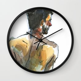 NATE, Semi-Nude Male by Frank-Joseph Wall Clock