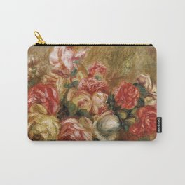 """Auguste Renoir """"Roses dans un vase de Sèvres"""" Carry-All Pouch"""