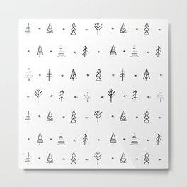 Little trees Metal Print