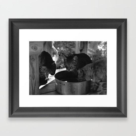 Watering Framed Art Print