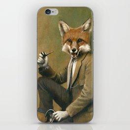 Vintage Fox In Suit iPhone Skin