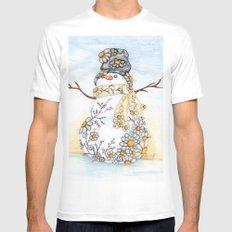 Sunrise Daisy Snowman Mens Fitted Tee White MEDIUM