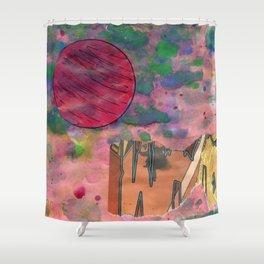 Io's Jovian Dawn Shower Curtain