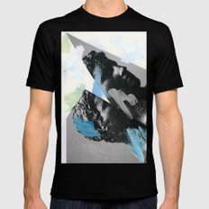 Untitled (Painted Composition 1) Black Mens Fitted Tee LARGE