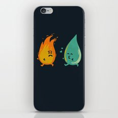 Impossible Love (fire and water kiss) iPhone & iPod Skin