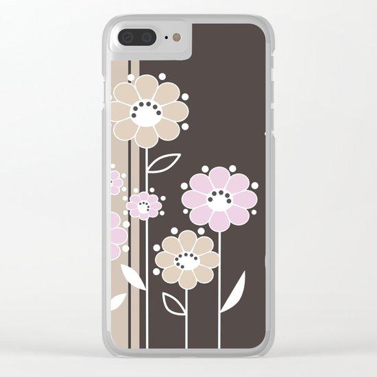 Floral applique . Retro . Clear iPhone Case