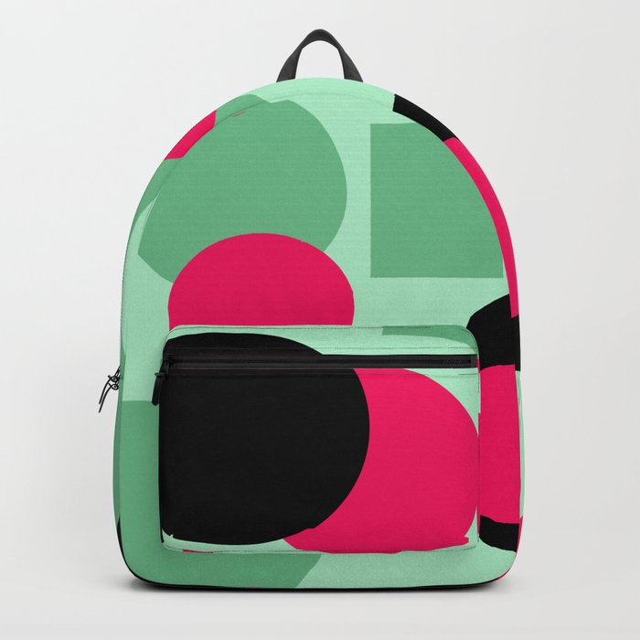 Abstract Polka dots pattern. green and red . Backpack