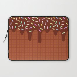 chocolate waffles with flowing chocolate sauce and sprinkles Laptop Sleeve
