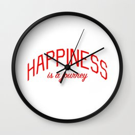 Happiness is a Journey - Mindfulness and Positivity Wall Clock