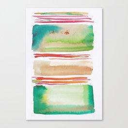 5   |181026 Lines & Color Block | Watercolor Abstract | Modern Watercolor Art Canvas Print
