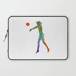 Woman beach volley ball player 02 in watercolor Laptop Sleeve