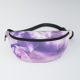 Kitty Cat Riding On Flying Space Galaxy Unicorn Fanny Pack