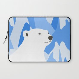 Polar Bear In The Cold Design Laptop Sleeve