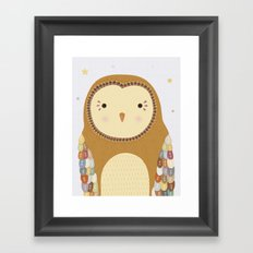 Autumn the Owl Framed Art Print