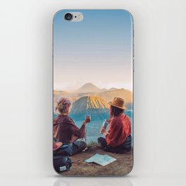 Sunset over Mount Bromo iPhone Skin