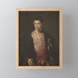 Titian - Ranuccio Farnese Framed Mini Art Print
