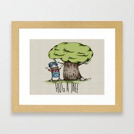 Hug a tree Framed Art Print