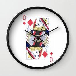 Ariadne Queen of Dreams and Diamonds Wall Clock