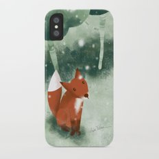 Fox in the snow iPhone X Slim Case
