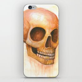 deaths grinning head iPhone Skin