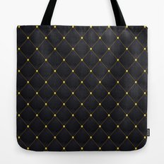 Black and Gold abstract luxury quilted pattern Tote Bag