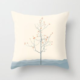 Twig Tree - Serenity Throw Pillow