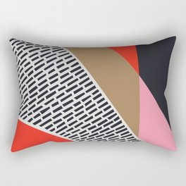 Pink Gold Red Abstract Rectangular Pillow