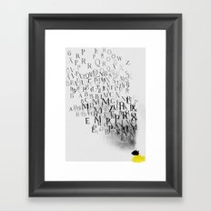 Typography and  the Black Hole Framed Art Print