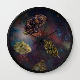 Weed in Space Wall Clock