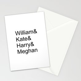 William & Kate & Harry & Meghan Stationery Cards