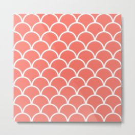Large scallop pattern in peach echo with glow Metal Print
