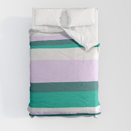 Hermosa, sunset stripes Comforters