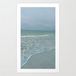 Gentle tide peaceful Gulf of Mexico, Lido Beach Art Print