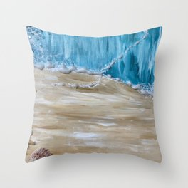 Parting of the Sea Throw Pillow