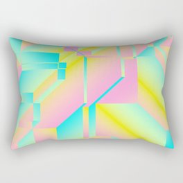 Geometric Fashion Print Rectangular Pillow